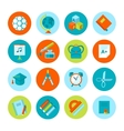 Set of school and education icons vector