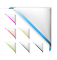 Corner ribbon vector