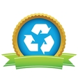 Gold recycling logo vector