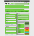 Web design elements set green vector