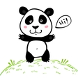 Little cute doodle drawing panda vector