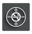 No smoking 10m distance sign icon stop smoking vector