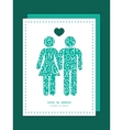 White on green alphabet letters couple in love vector