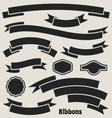 Ribbon banners vector