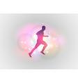 Sport abstract runner vector