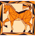 Chinese horoscope stylized stained glass horse vector