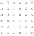 Multimedia icon set vector
