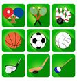 Icons sport tennis football basketball vector