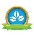 Gold coffee beans logo vector