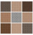 Monochrome brown vintage style tiles seamless vector