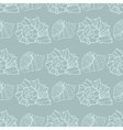 Seamless pattern with decorative shells vector