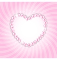 Pearl heart background vector