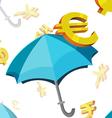 Umbrella currency symbols finance vector
