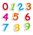 Funny comic numbers vector