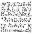 Alphabet font - vector