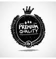 Doodle label premium quality vector