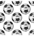 Seamless pattern of cartoon soccer balls or vector