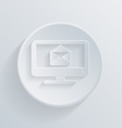 Paper circle icon monitor symbol letter envelope vector