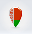 Belarussian icon point for map vector