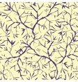 Painted tree brunches seamless pattern background vector