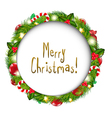 Merry christmas speech bubble vector