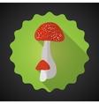 Mushrooms bad habits flat icon background vector