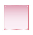 Sticker pink glass isolated object vector