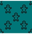 Gingerbread web icon flat design seamless gray vector