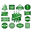Set of school vintage labels vector