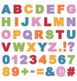 Stitched alphabet vector