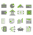 Green finance business icons vector