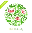 Abstract floral round ornamental pattern vector