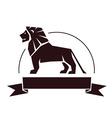 Lion emblem vector
