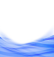 Abstract blue dot wave border background vector