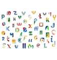 Alphabet letters and symbols vector