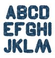 Sketched alphabet am vector