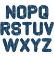Sketched alphabet nz vector
