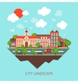 City scape background vector