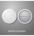 Blank white badge both sides - face and back vector