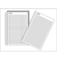 Spiral bound notepad vector