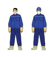 Worker electrician vector