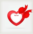 Heart a red tape vector