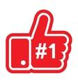 Thumb up sign vector