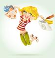 Sweet girl shopaholic vector