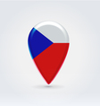 Czechian republic icon point for map vector