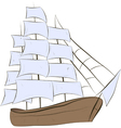 Ship sailing vector