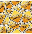 Danger symbol traffic board collection set vector