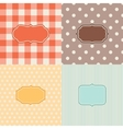 Set of four patterned backgrounds with frames vector