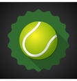 Sport ball tennis flat icon background vector