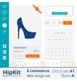 E-commerce web design elements extra set 1 vector